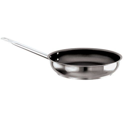 """Paderno World Cuisine """"Grand Gourmet"""" 7-7/8-Inch Non-stick Stainless-steel Frying Pan (with loop handle) by Paderno World Cuisine. $120.77. Handle with forged stainless-steel rivets. Non-stick finish. NSF Approved. Induction ready. Compatible with all heat sources. This 7-7/8-inch non-stick stainless-steel frying pan has a height of 2-inch. The Grand Gourmet series boasts an outer and inner satin polish and a mirror-finish along the edges. The interior is coated with mu..."""