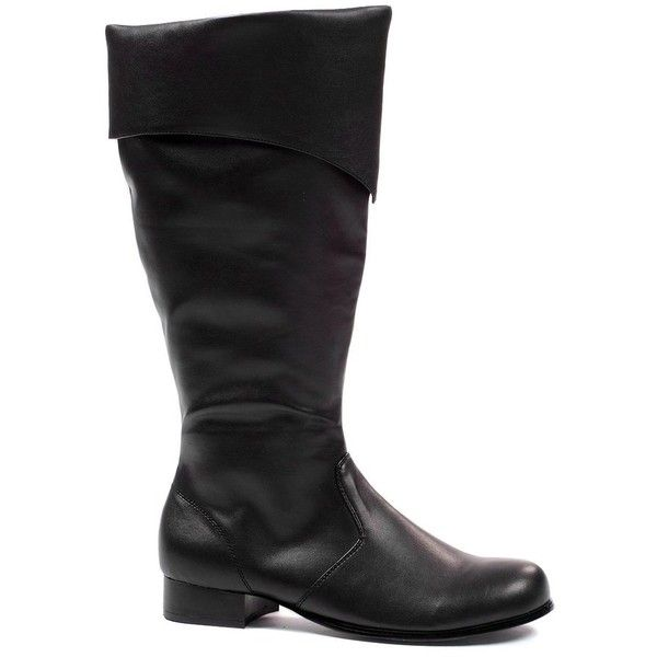 Tall Pirate Boots Adult ($32) ❤ liked on Polyvore featuring costumes, adult costumes, pirate costume, adult pirate costumes, pirate halloween costume and adult halloween costumes