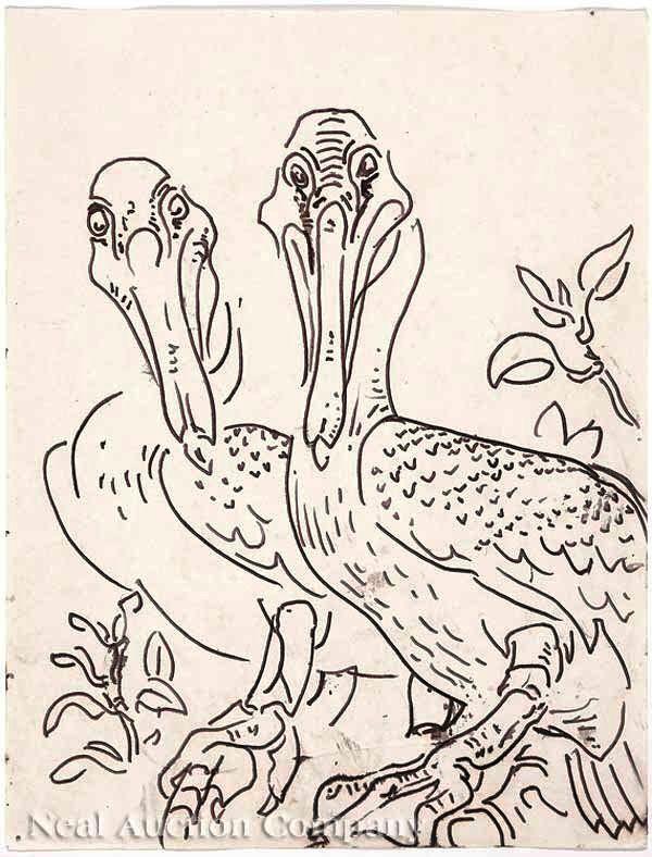 """Walter Anderson, """"Two Pelicans"""" <3"""