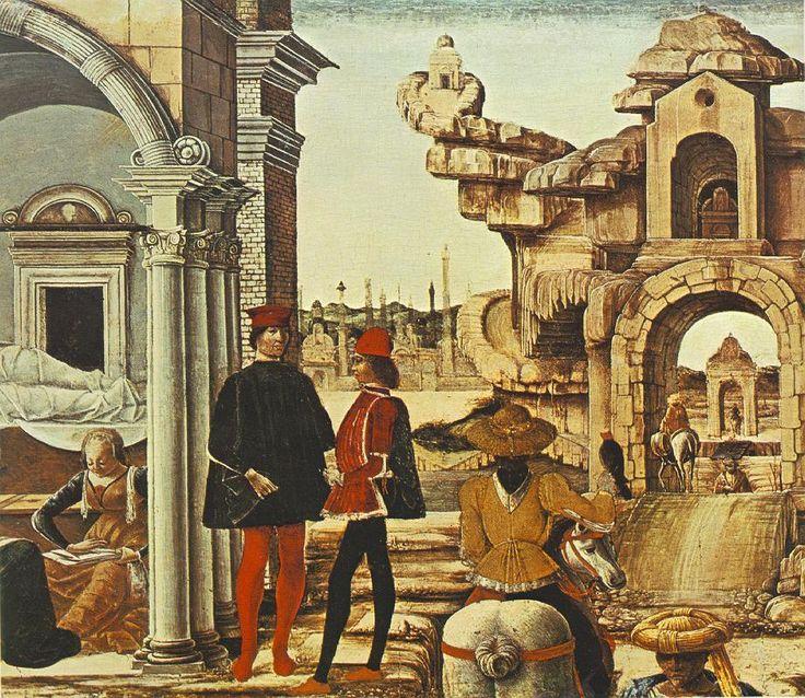 Ercole de' Roberti - Storie di san Vincenzo Ferrer (predella Polittico Griffoni), dettaglio - 1473 - Città del Vaticano, Pinacoteca Vaticana