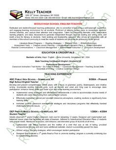 Elementary Education Resume Examples   Google Search
