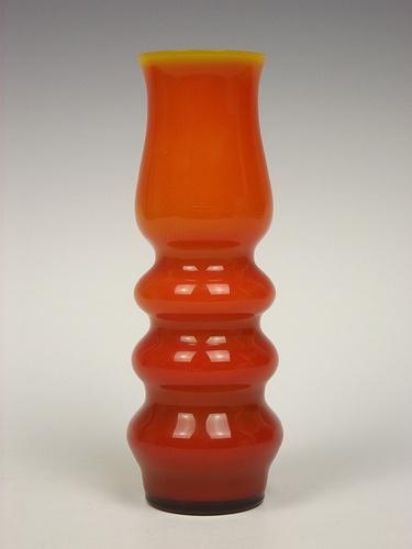 Ryd orange cased glass vase