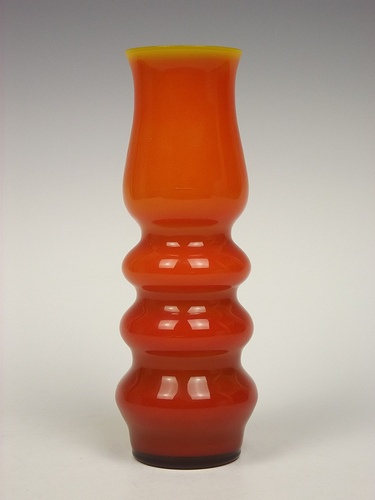 Ryd orange cased glass vase
