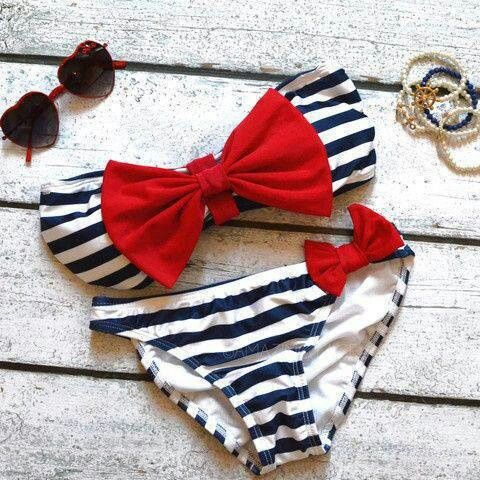 Cute nautical bathing suit