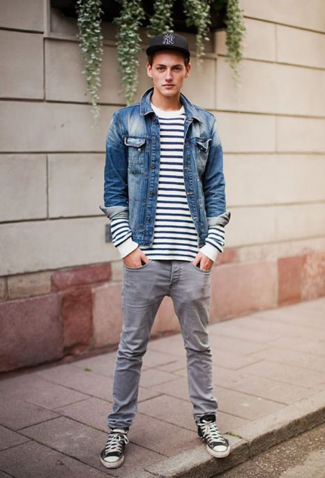 Stripes. Jean Jacket. | Style | Pinterest