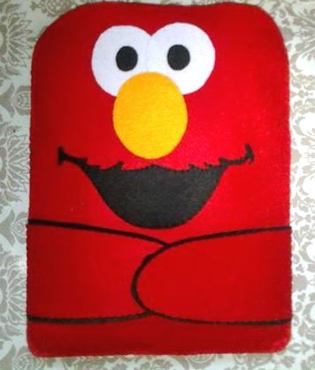 Elmo,  Made to order HANDMADE  felt pouch and case for ipad, ipad mini and any other gadgets We also accept customize and personalize order :)