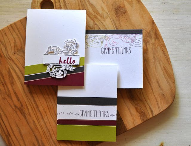 Great way to use scraps of cardstock or DSP on your cards