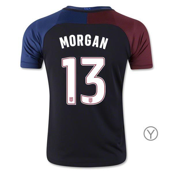 2016/17 USA Away Alex Morgan Youth Soccer Jersey (#13)