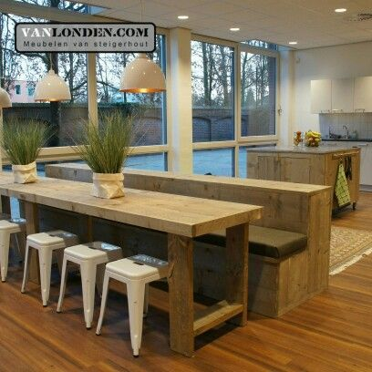 Kantine inrichting van steigerhout ... www.vanlonden.com