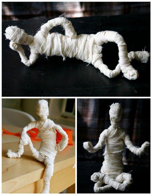 мумия на хэллоуин своими руками