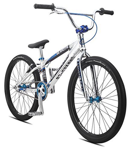 SE Bicycles Floval Flyer BMX Bicycle, 24″, High Polished Silver  $  597.63   BMX Bikes Product Features     The SE floval Flyer 24 inch is an elite race bike that has it all   Lightweight 6061 alloy floval tubing, internally machined and integrated head tube, bi-oval down tube, tapered stays and 3d-forged dropouts   Landing gear 2 full  ..  http://www.bicyclessale.com/se-bicycles-floval-flyer-bmx-bicycle-24-high-polished-silver/