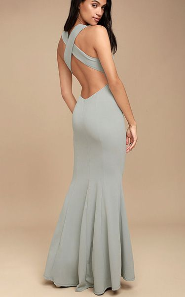 Heaven And Earth Grey Maxi Dress via @bestmaxidress
