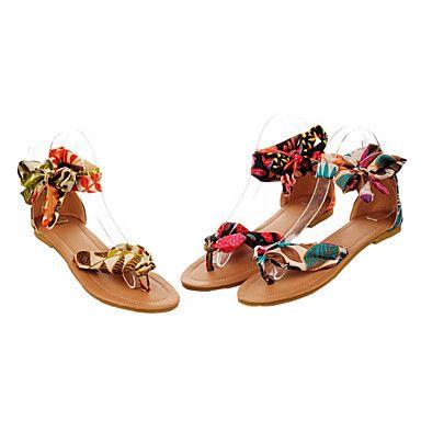 scarpe da donna comodo cinturino in satin al piatto sandalo tacco caviglia ...I loveeeeee ♥