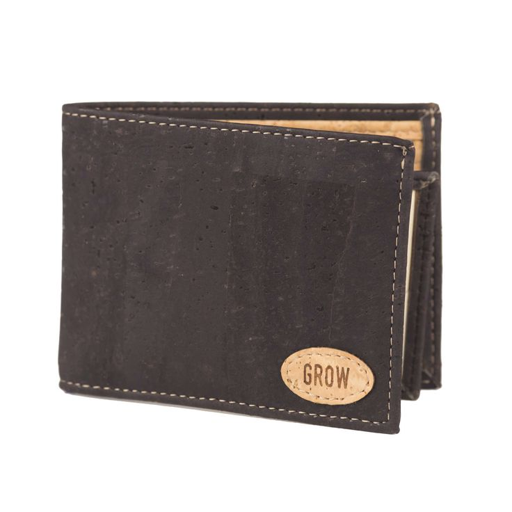 Mens Black Cork Wallet by GrowFromNature on Etsy