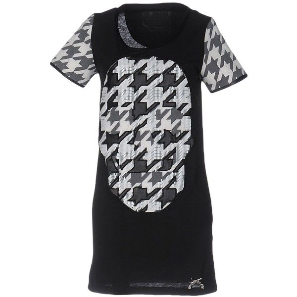 Philipp Plein Couture T-shirt (23.130 RUB) ❤ liked on Polyvore featuring tops, t-shirts, black, short sleeve tee, philipp plein, short sleeve t shirts, philipp plein t shirt and jersey t shirt