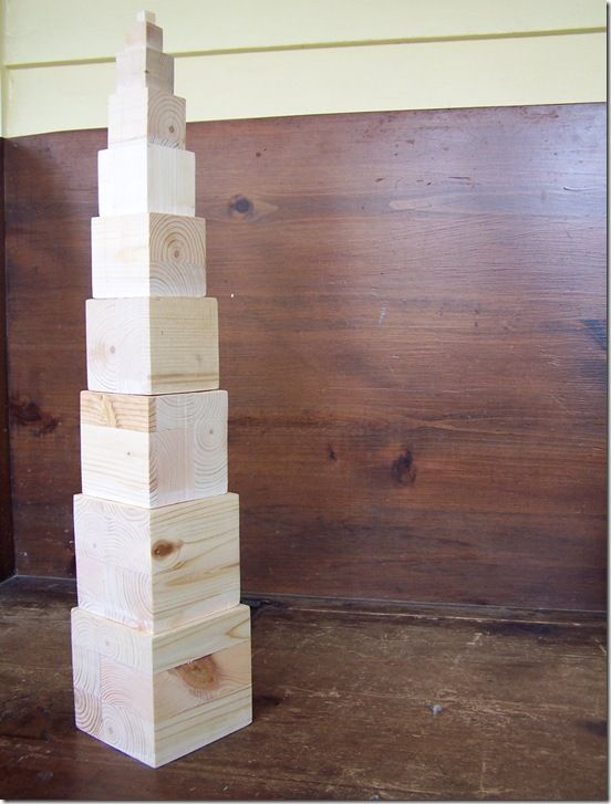 how to make montessori pink tower - what's the deal with the tower?  How is it used?  Do we need one?