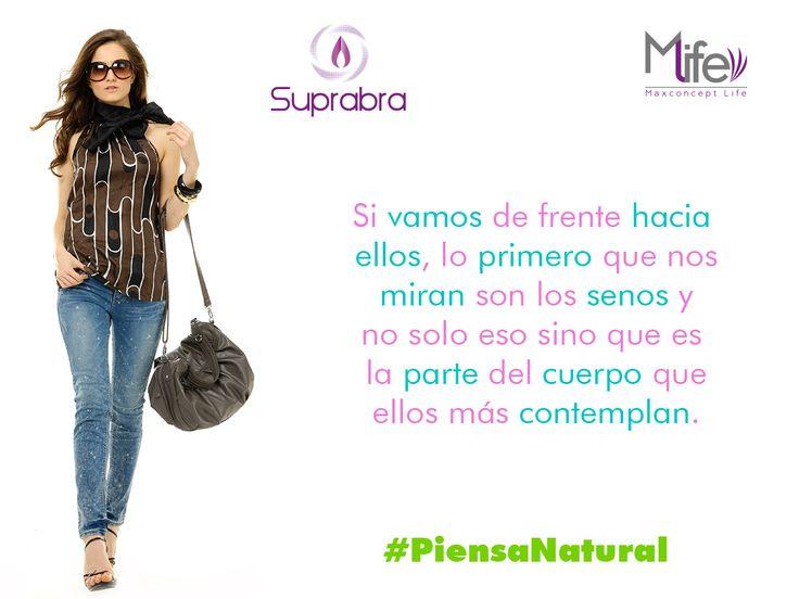 ¿Sabías que los hombres lo primero que nos miran son los #senos? #Pechos #Bubis #Tips #PiensaNatural www.suprabra.com