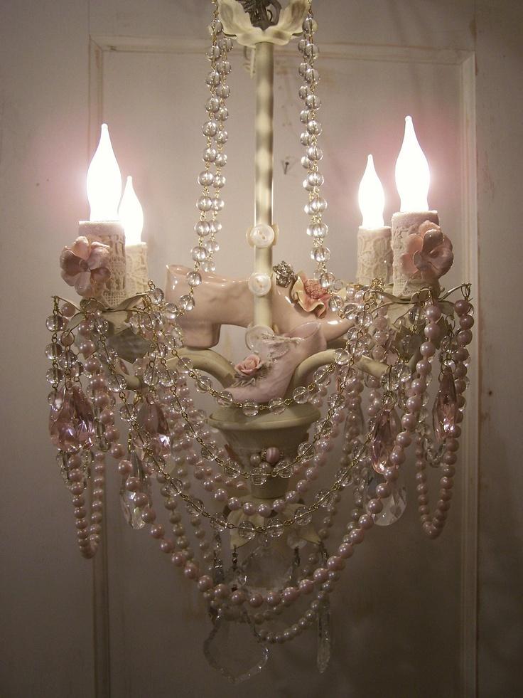 19 best images about diy chandelier makeover on pinterest for Diy crystal chandelier lamp