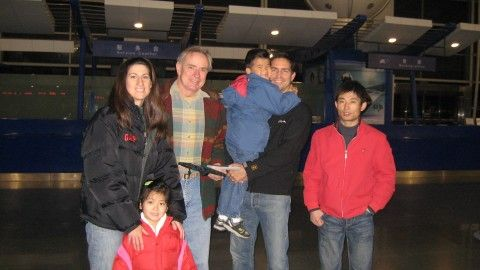 Family photo of the actor, married to Kerri Caviezel, famous for Escape Plan, The Prisoner, Unknown & Person of Interest.