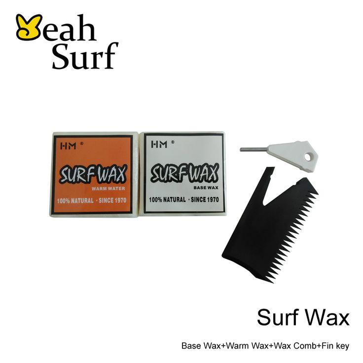SUP Surf Wax Base Wax+Warm Water Wax+Wax Comb+Fin Key Favorable Combo
