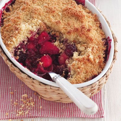 Apple and Blackberry Crumble recipe - this looks so delicious and it's gluten and dairy free!