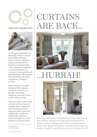 Featured in September 2017 Decor Magazine, 7 great reasons why curtains are back #hurrah
