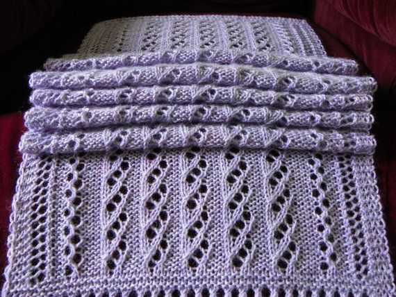 Pattern to Knit Lace Scarf  Water Drops PDF by suelillycreations, $3.75