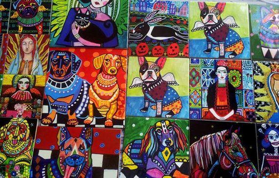 Zie alle mijn kat Art hier: http://etsy.me/2wzswNX Bezoek mijn winkel hier: HeatherGallerArt.etsy.com Over mijn mooie keramische tegels: ♥ Keramische tegels worden afgedrukt in huis, niet handbeschilderd ♥ Zeer levendige kleuren, glanzend, mooi. ♥ Mijn tegels kunnen ook worden