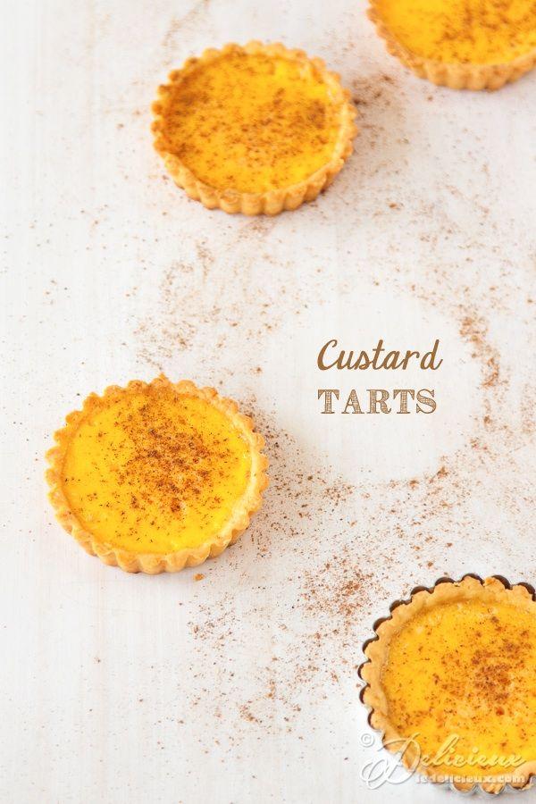 Vanilla infused Custard Tarts | ledelicieux.com