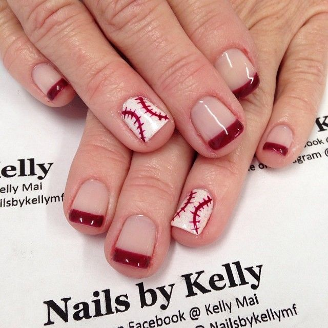 Baseball season is here get the look with #jamberry curveball and fire engine tip  http://carrieactually.jamberrynails.net/product/curve-ball http://carrieactually.jamberrynails.net/product/fire-engine-tip-mid