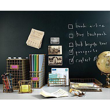 Staples® - Rustic Desk Accessories - Letter Tray, Memo Holder, Letter Sorter