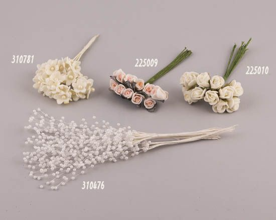 Ανθάκια διακοσμητικά με συρμα | bombonieres.com.gr