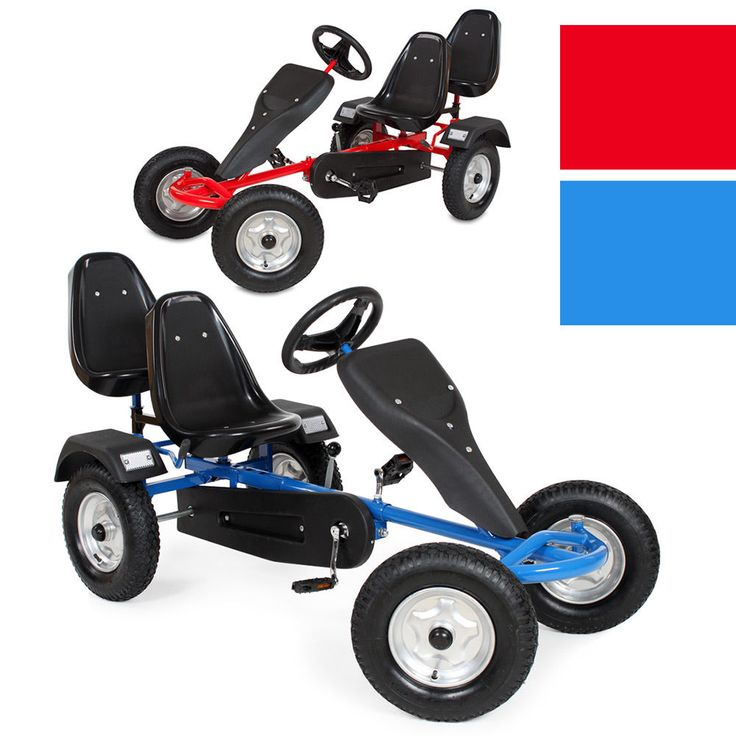 Go Kart Pedal 2 seater Ride On Car Rubber Tires | Toys & Games, Outdoor Toys & Activities, Ride-on Cars | eBay!