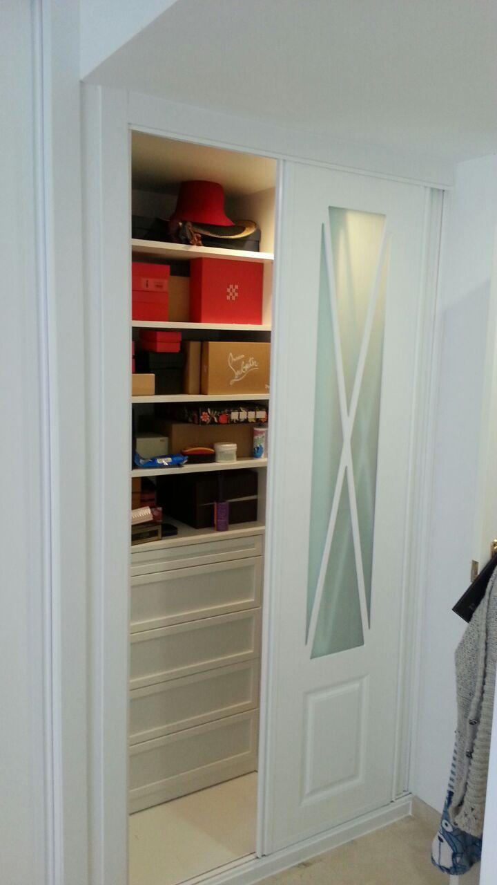Vestidor dentro de frente de armario armarios de puertas - Frente armario corredera ...