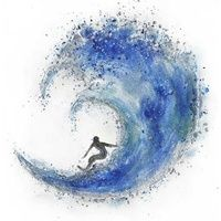 Ocean Surfing Oil Painting on Canvas Wall Art $289.95