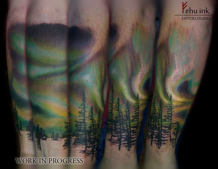 1000 ideas about northern lights tattoo on pinterest