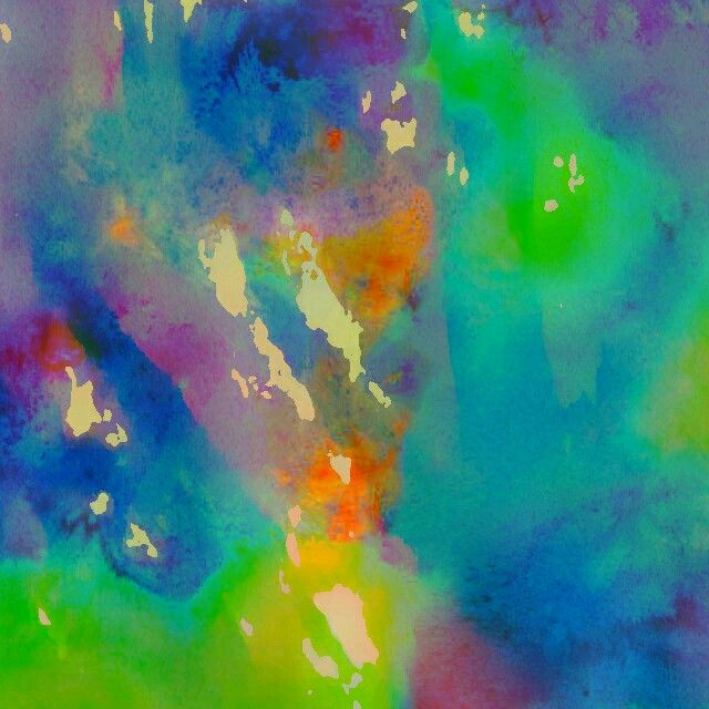 """""""Softly..softly..""""   Watercolour abstract  by  Irena Kristina Rose Forrester                copyright  2015  all rights reserved"""