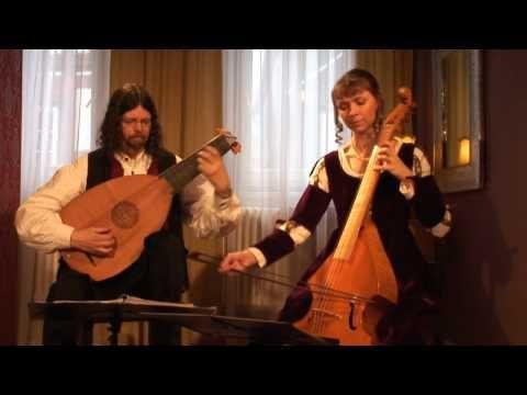 """Pavana Lachrimae"" by John Dowland. Lutz Kirchhof (laúd renacentista) y Martina Kirchhof (viola da gamba)"