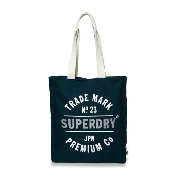 Superdry Athletic League Canvas Tote Bag ($25) ❤ liked on Polyvore featuring bags, handbags, tote bags, green, handbag tote, tote handbags, blue canvas tote bag, blue canvas tote and green purse