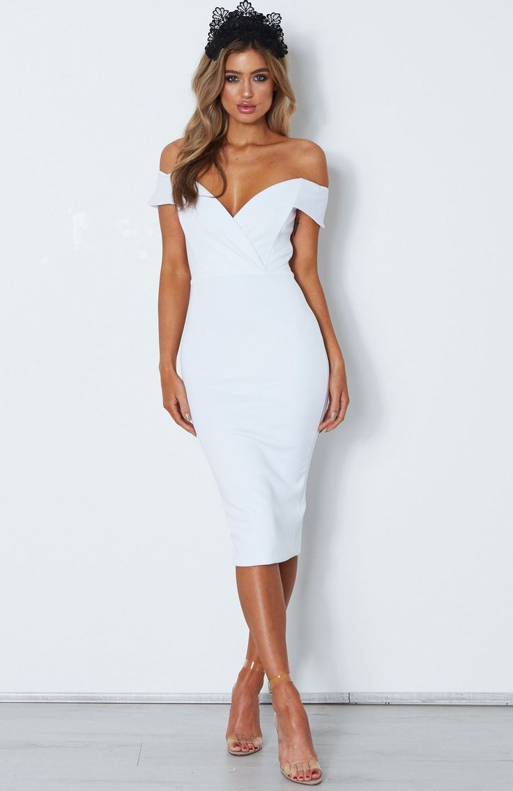Aura Midi Dress White