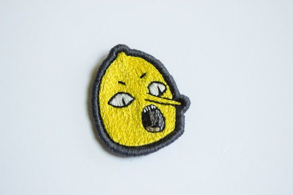 Lemongrab Unacceptable Embroidered Patch - Adventure Time Gift Brooch Applique