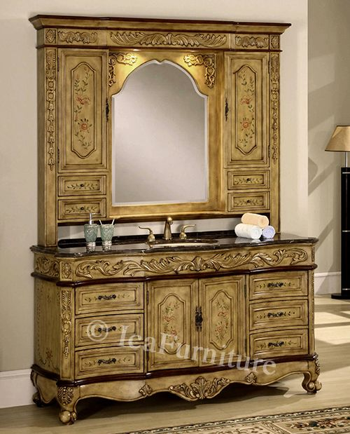 Large bathroom vanity with medicine cabinet mirror hutch - Large medicine cabinet mirror bathroom ...