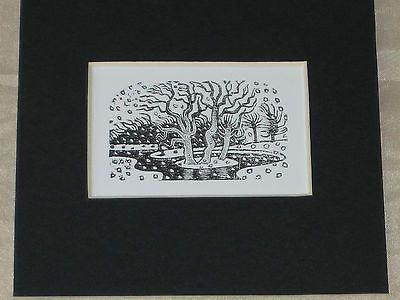 ERIC RAVILIOUS - KYNOCH PRESS NOTEBOOK & DIARY 1933 - WOOD ENGRAVING - WOODCUT