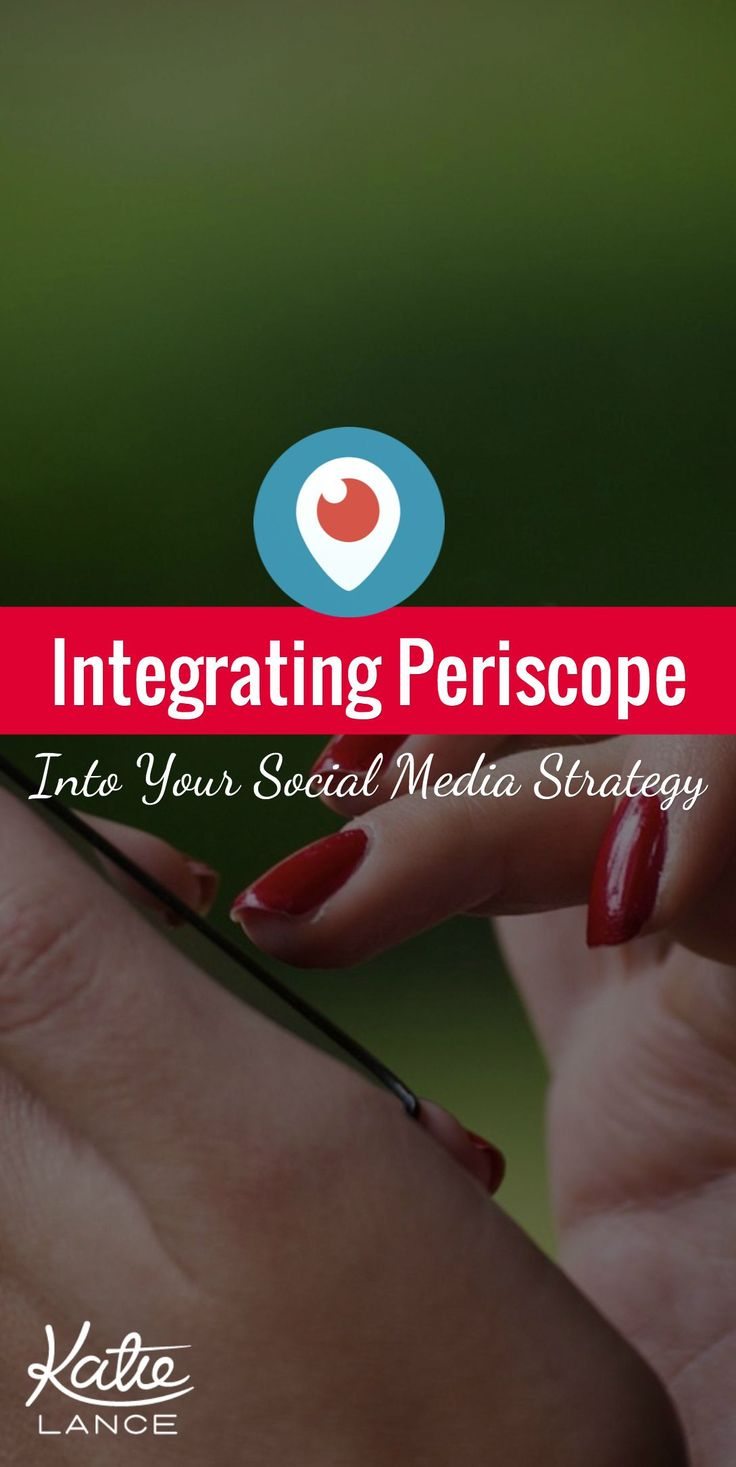 Tips for integrating #Periscope into your #socialmedia strategy. Check it out!