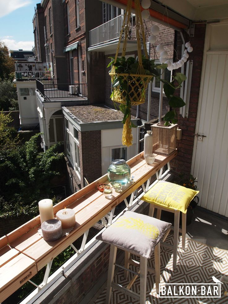 The 25 best balcony bar ideas on pinterest balcony for Diy balcony bar