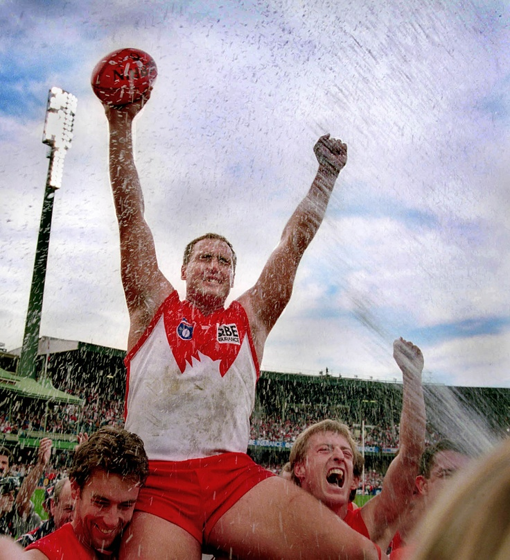 #15 Tony Lockett kicks his 1300th goal, 1999    It was a kick 62 years in the making.    Since the retirement of the great Collingwood full-forward Gordon Coventry in 1937, no player in VFL/AFL history had managed to top his goalkicking record of 1299 goals...    Read more here: http://bit.ly/JrNQnB