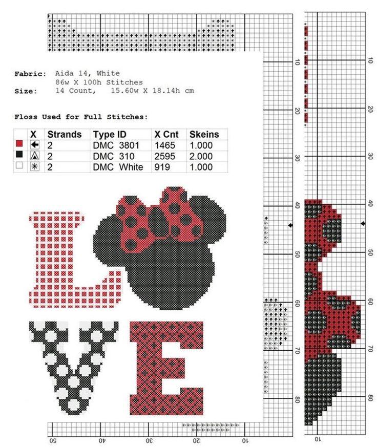disney cross stitch pattern Love, PDF Pattern Threads