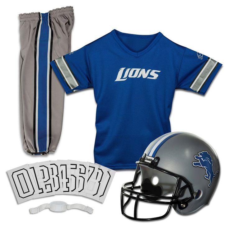 Franklin Sports NFL Detroit Lions Deluxe Uniform Set, Kids Unisex, Size: Medium