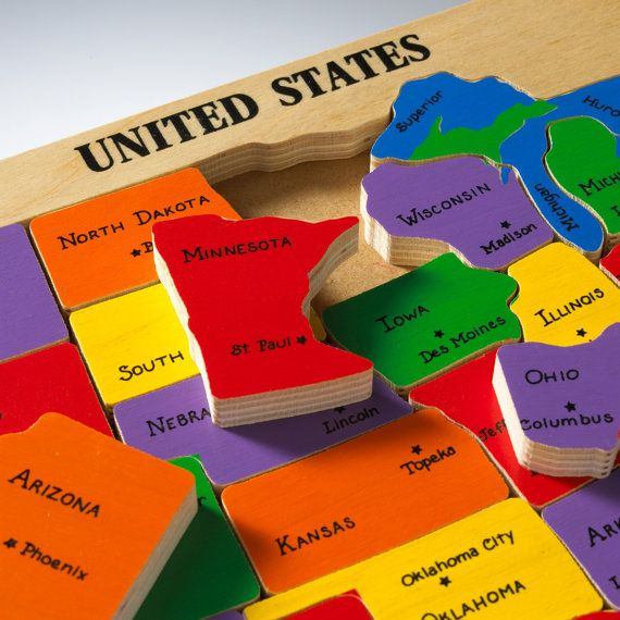 Best Map Puzzle USA Images On Pinterest Plywood Sizes Maps - Best us map puzzle for kids