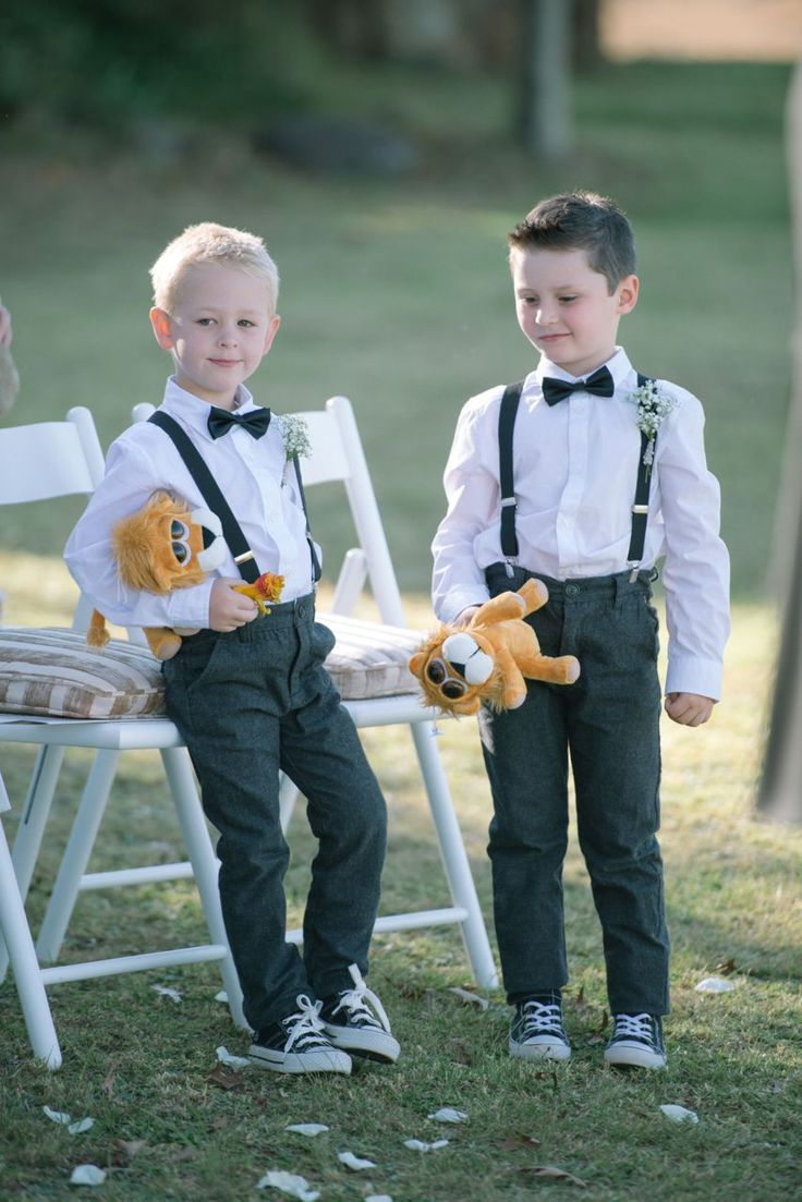 Ringbearer and pageboys looking ultra cute!